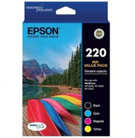 Epson 220 Colour Ink Cartridges - Value Pack
