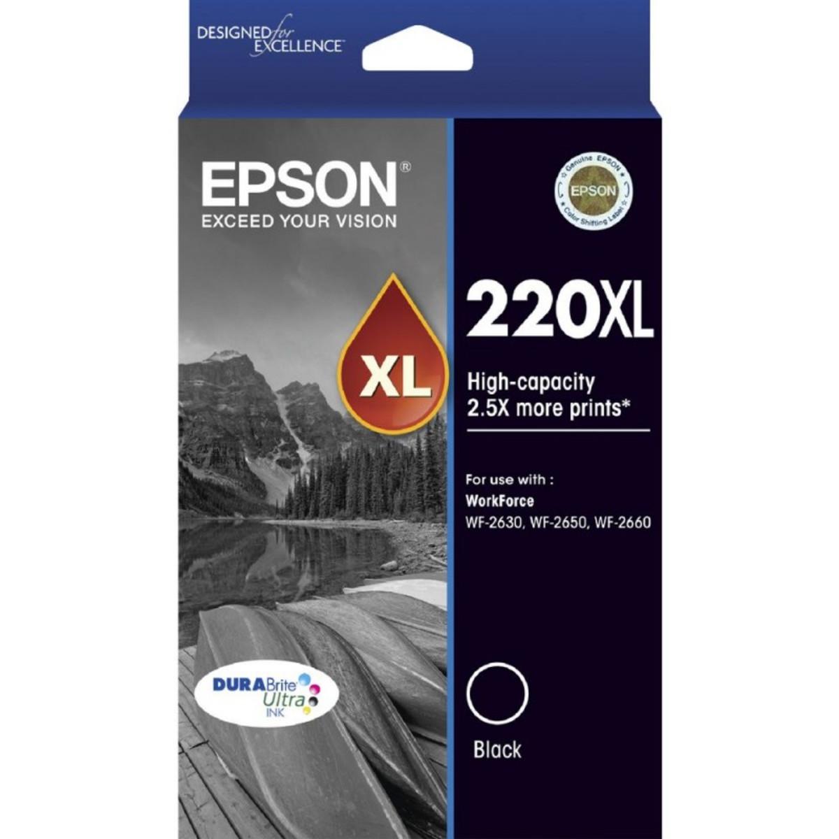 Epson 220XL Black Ink Cartridge - High Yield