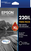 Epson 220XL Black Ink Cartridges - Twin Pack