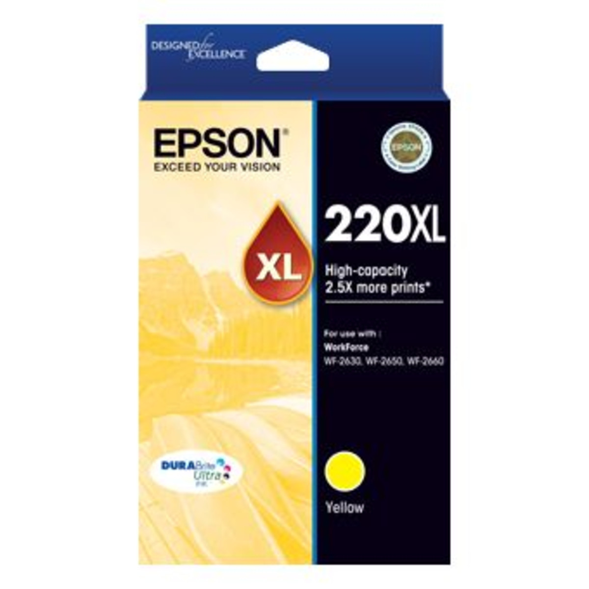 Epson 220XL Yellow Ink Cartridge - High Yield