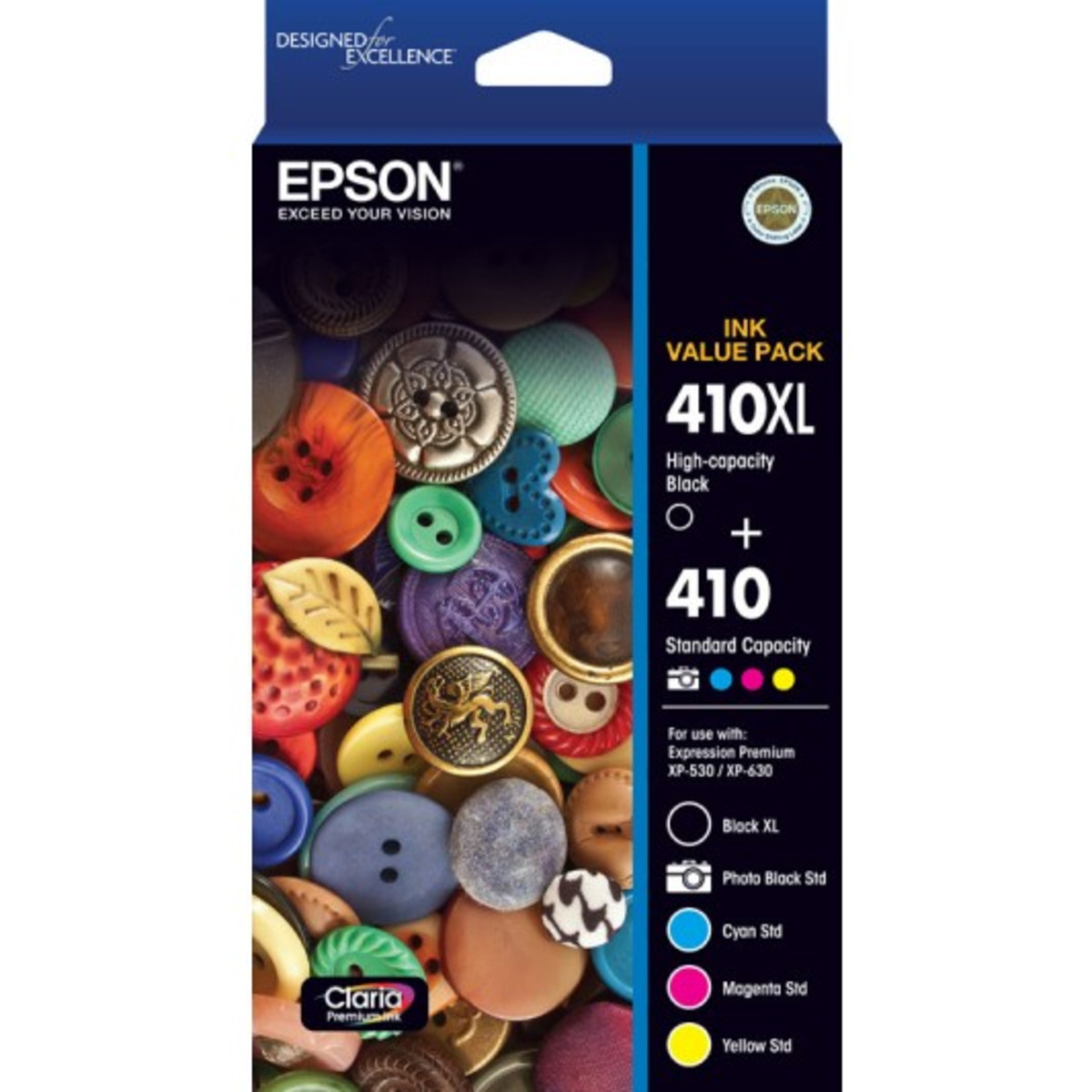 Epson 410 Inkjet Cartridges - Value Pack