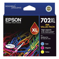 Epson 702 CMY XL Ink Value Pack