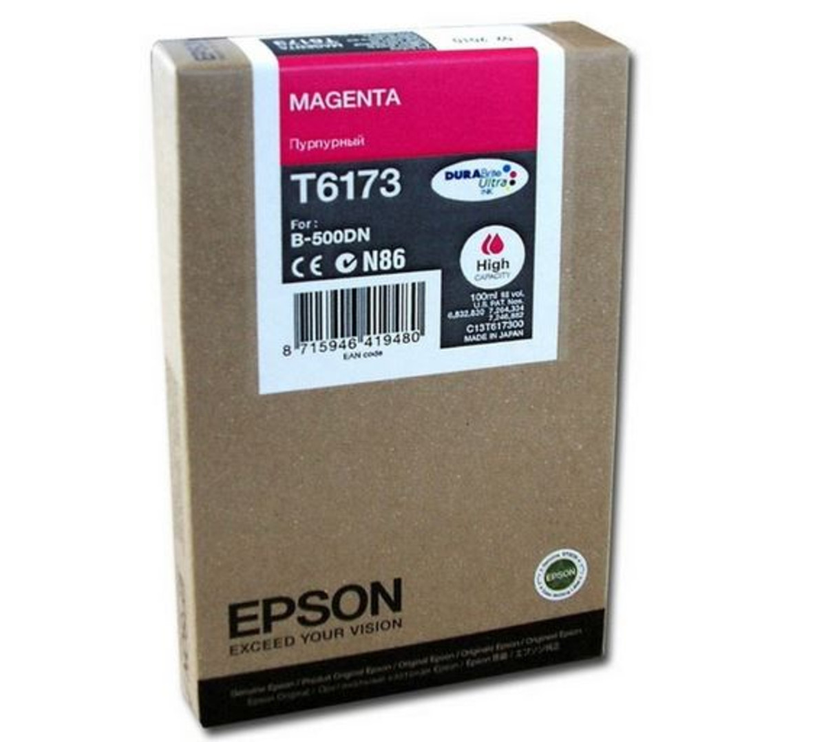 Epson C13T617300 Magenta Ink Cartridge - High Yield