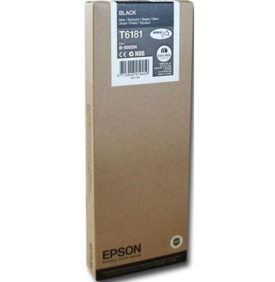 Epson C13T618100 Black Ink Cartridge - Extra High Yield