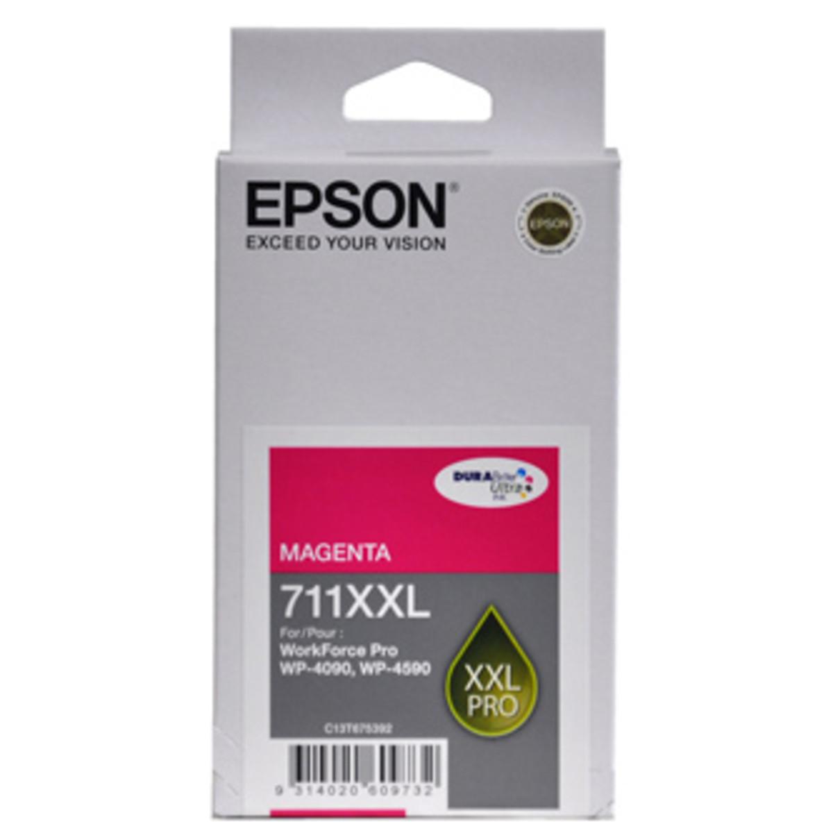 Epson 711XXL Magenta Ink Cartridge - High Yield