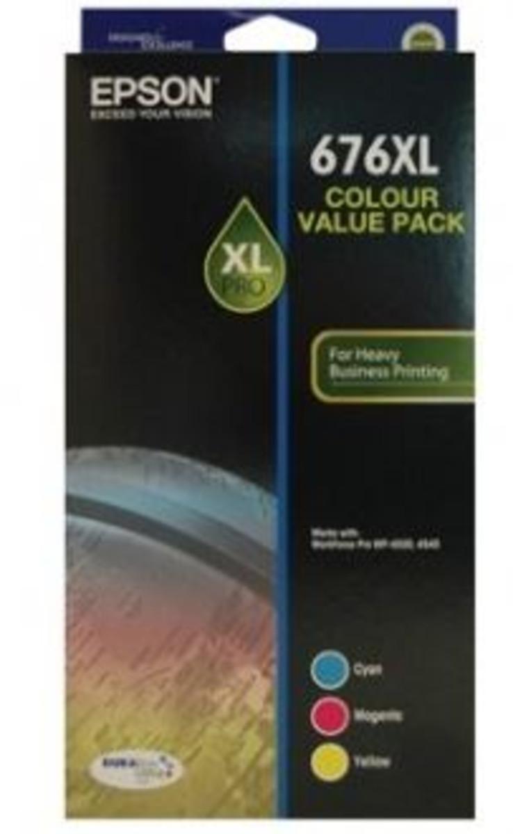 Epson 676XL Colour Ink Cartridges - Multi Pack