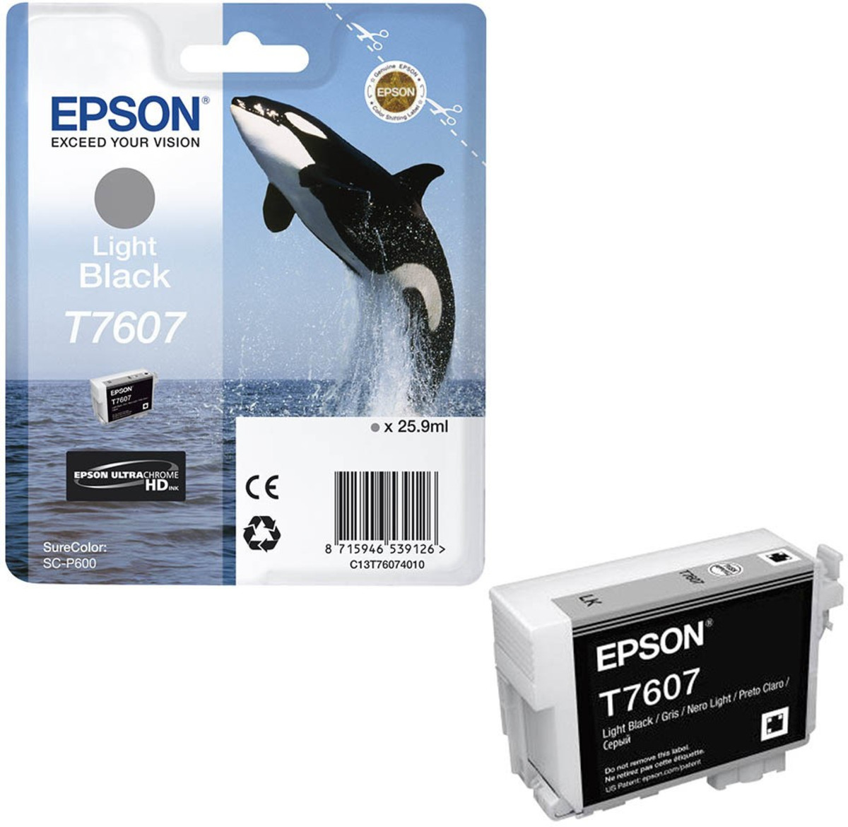 Epson 760 Light Black Inkjet Cartridge