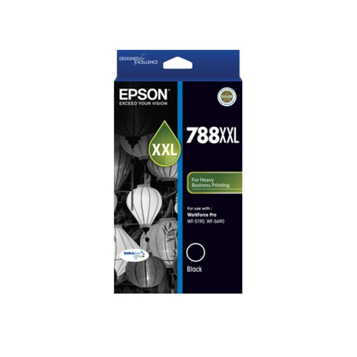 Epson 788XXL Black Inkjet Cartridge - High Yield