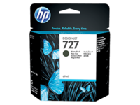 HP 727 (C1Q12A) Matte Black Ink Cartridge - 300ml
