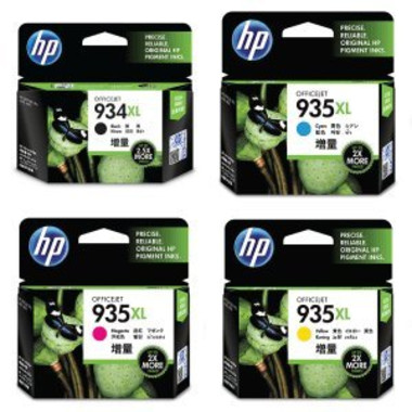 HP 934XL, 935XL Ink Cartridge Value Pack - Includes: [1 x Black, Cyan, Magenta, Yellow]