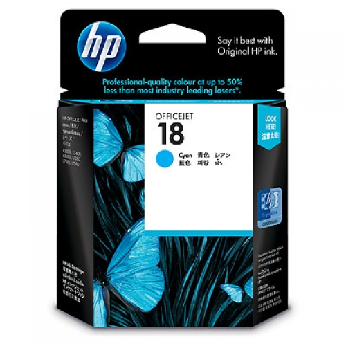 HP 18 Cyan Ink Cartridge (Original)