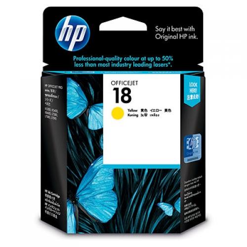 HP 18 Yellow Ink Cartridge (Original)