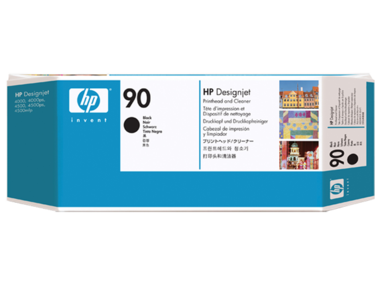 HP No 90 Black Printhead and Cleaner