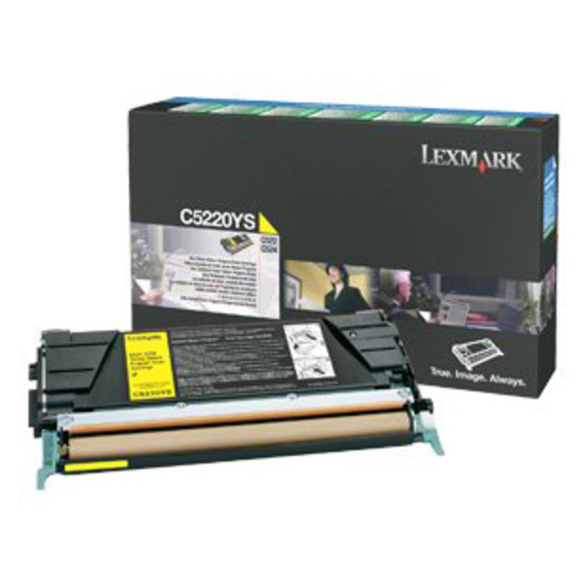 Lexmark C5220YS Yellow Prebate Toner Cartridge