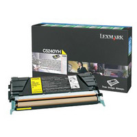 Lexmark C5240YH Yellow Toner Cartridge - High Yield