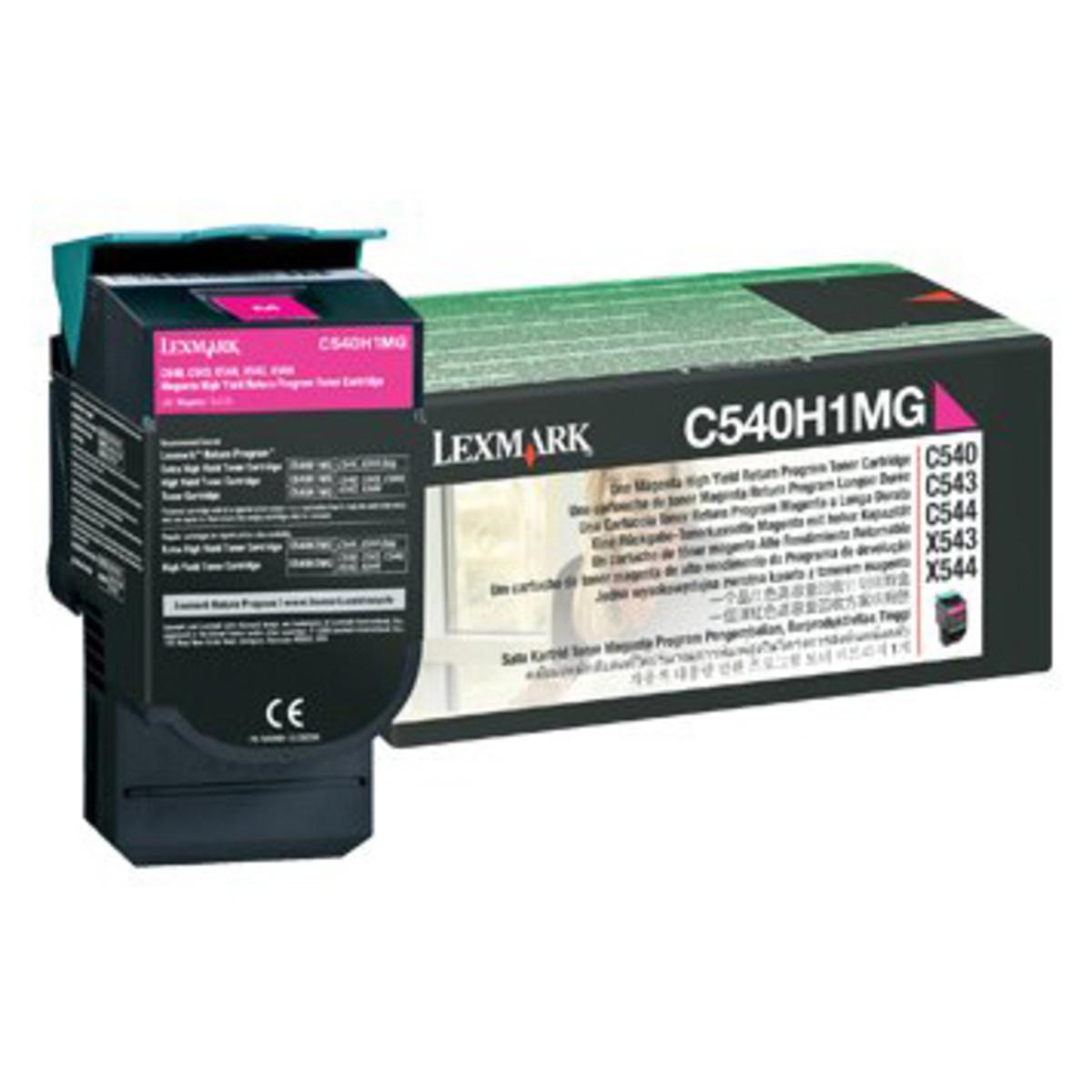 Lexmark C540H1MG Magenta Toner Cartridge - High Yield
