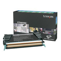 Lexmark C734A1KG Black Prebate Toner Cartridge