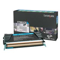 Lexmark C736H1CG Cyan Toner Cartridge - High Yield