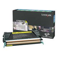Lexmark C736H1YG Yellow Toner Cartridge - High Yield