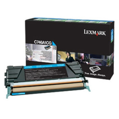 Lexmark C746A1CG Cyan Toner Cartridge