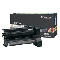 Lexmark C7700KH Black Prebate Toner Cartridge High Yield