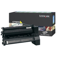 Lexmark C7700YH Yellow Toner Cartridge High Yield