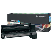 Lexmark C7720CX Cyan Toner Cartridge High Yield