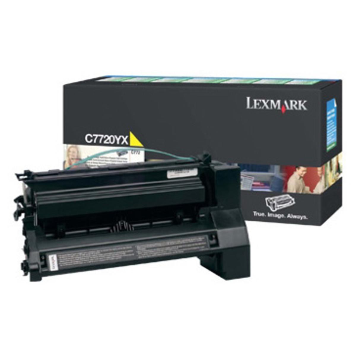 Lexmark C7720YX Yellow Toner Cartridge High Yield