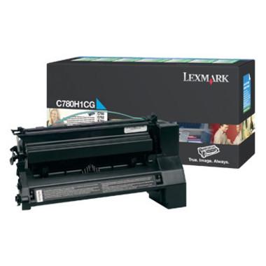 Lexmark C780H1CG Cyan Prebate Toner Cartridge- High Yield