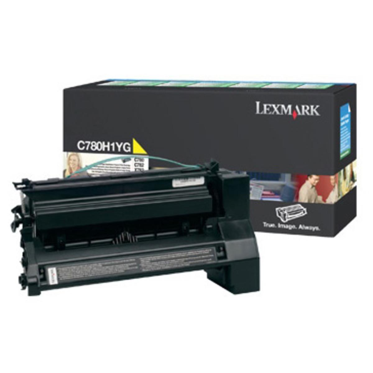 Lexmark C780H1YG Yellow Toner Cartridge- High Yield