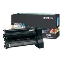 Lexmark C782X1CG HY Cyan Prebate Toner Cartridge- High Yield