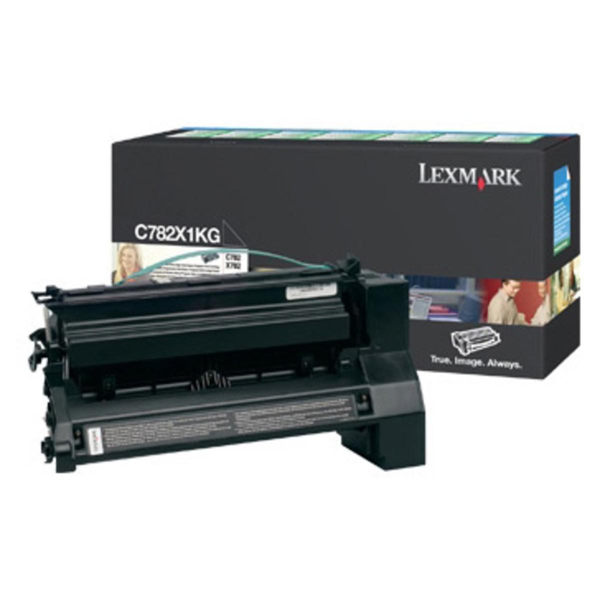 Lexmark C782X1KG Black Toner Cartridge- High Yield