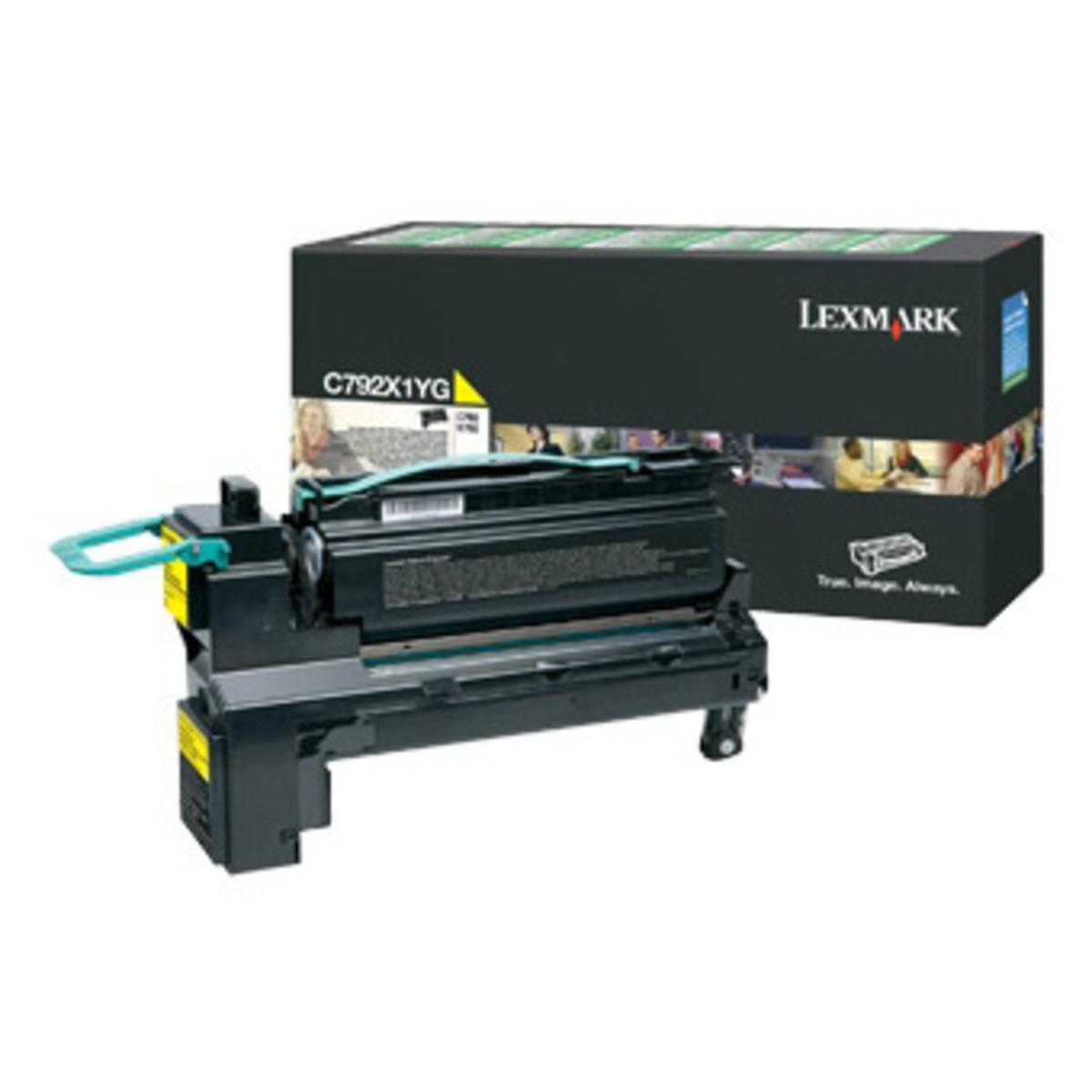 Lexmark C792X1YG Yellow Toner Cartridge - High Yield