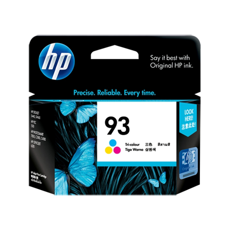 HP 93 Tri-Colour Ink Cartridge (Original)