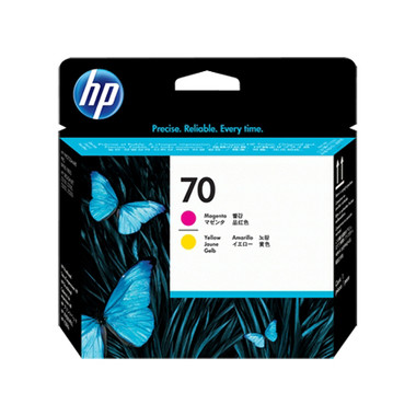 HP 70 (C9406A) Magenta and Yellow Ink Cartridge