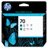 HP 70 (C9408A) Blue and Green Ink Cartridge