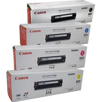Canon CART316 Toner Cartridges Value Pack - Includes: [1 x Black, Cyan, Magenta, Yellow]