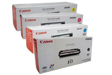 Canon CART317 Toner Cartridges Value Pack - Includes: [1 x Black, Cyan, Magenta, Yellow]