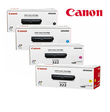 Canon CART322 Toner Cartridges Value Pack - Includes: [1 x Black, Cyan, Magenta, Yellow]