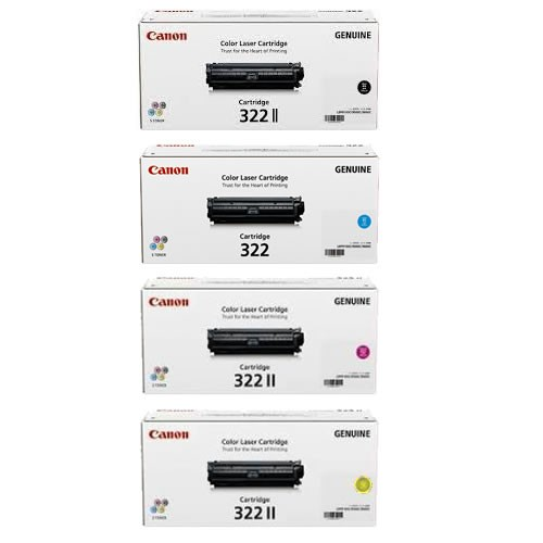 Canon CART322II Toner Cartridges Value Pack - Includes: [1 x Black, Cyan, Magenta, Yellow]