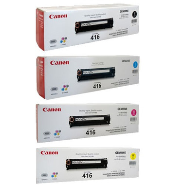 Canon CART416 Toner Cartridges Value Pack - Includes: [1 x Black, Cyan, Magenta, Yellow]