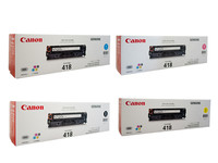 Canon CART418 Toner Cartridges Value Pack - Includes: [1 x Black, Cyan, Magenta, Yellow]