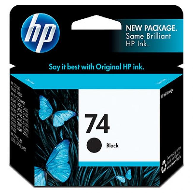 HP 74 Black Ink Cartridge (Original)