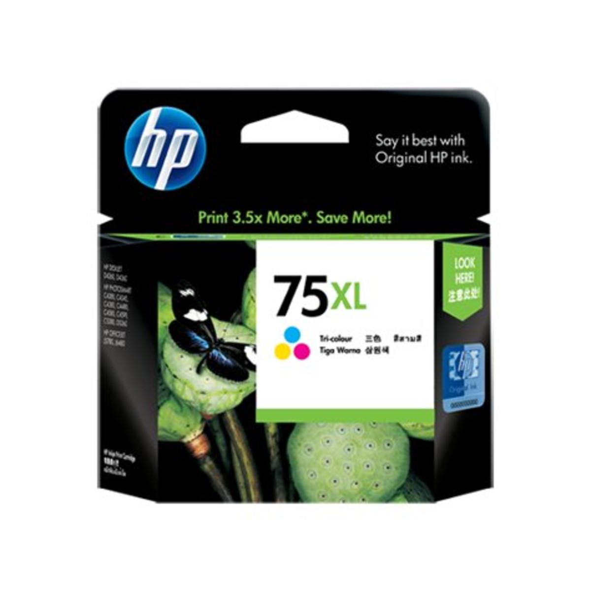 HP 75XL (CB338WA) Tri-Colour Ink Cartridge - High Yield