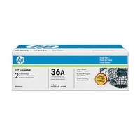 HP 36A (CB436AD) Black Toner Cartridges - Twin Pack