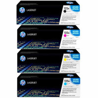 HP 125A Toner Cartridges Value Pack - Includes: [1 x Black, Cyan, Magenta, Yellow]