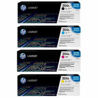 HP 304A Toner Cartridges Value Pack - Includes: [1 x Black, Cyan, Magenta, Yellow]