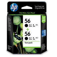 HP 56 (CC620AA) Black Ink Cartridges - Twin Pack