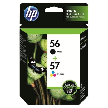 HP 56, 57 Black and Colour Ink Cartridge (Original)