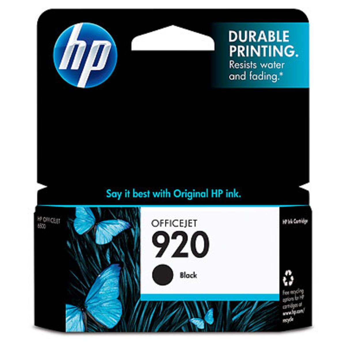 HP 920 (CD971AA) Black Ink Cartridge